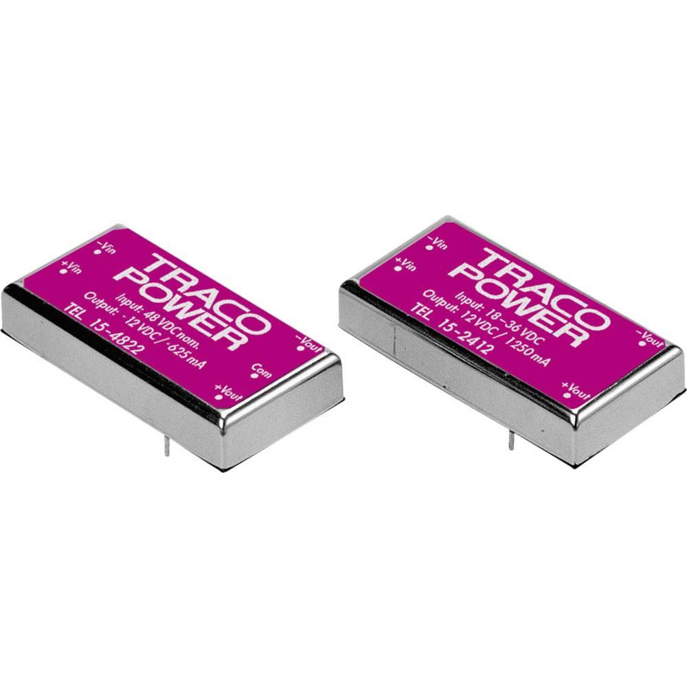 DC/DC pretvornik za tiskano vezje TracoPower TEL 15-2412 24 V/DC 12 V/DC 1.25 A 15 W št. izhodov: 1 x