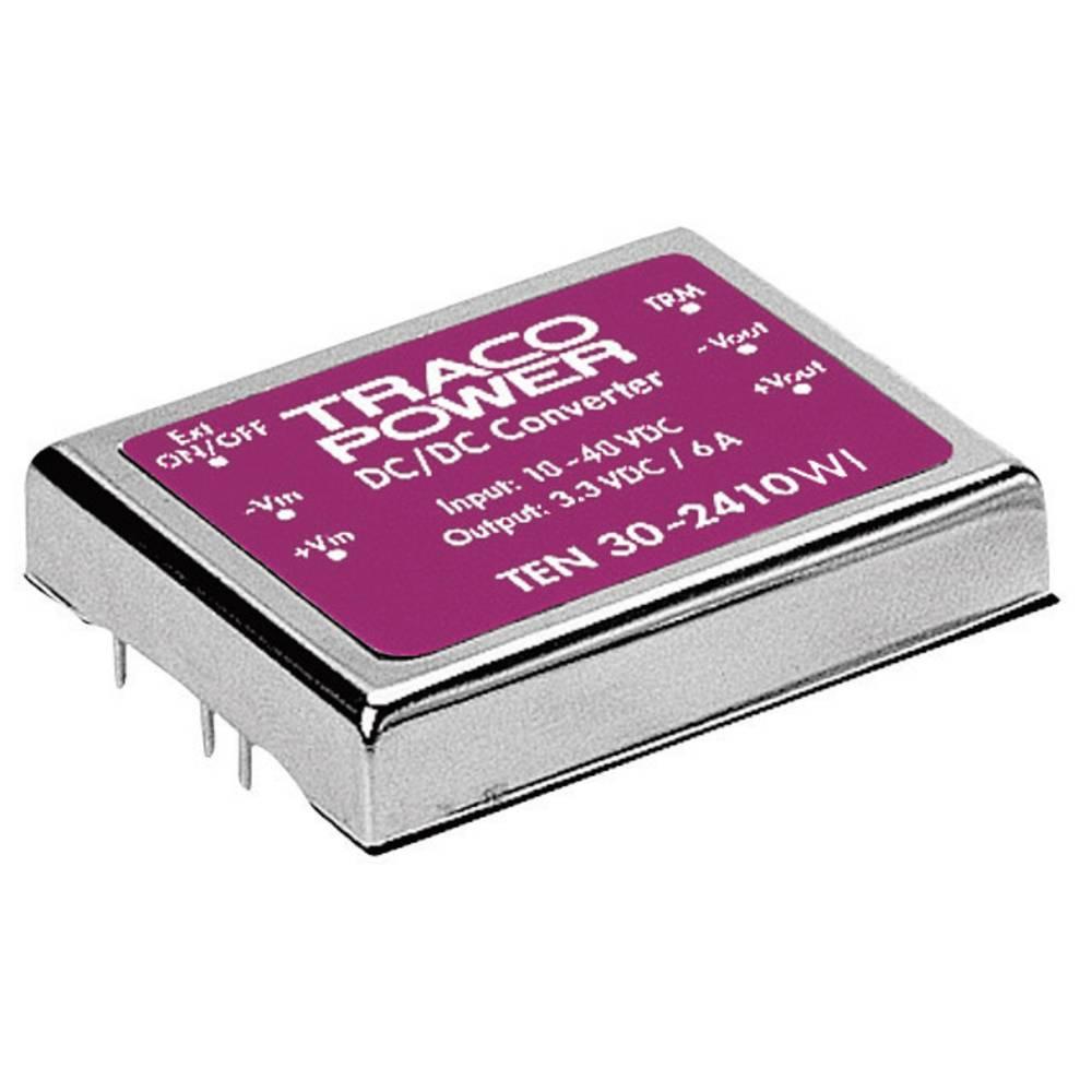 DC/DC pretvornik za tiskano vezje TracoPower TEN 30-2412WI 24 V/DC 12 V/DC 2.5 A 30 W št. izhodov: 1 x