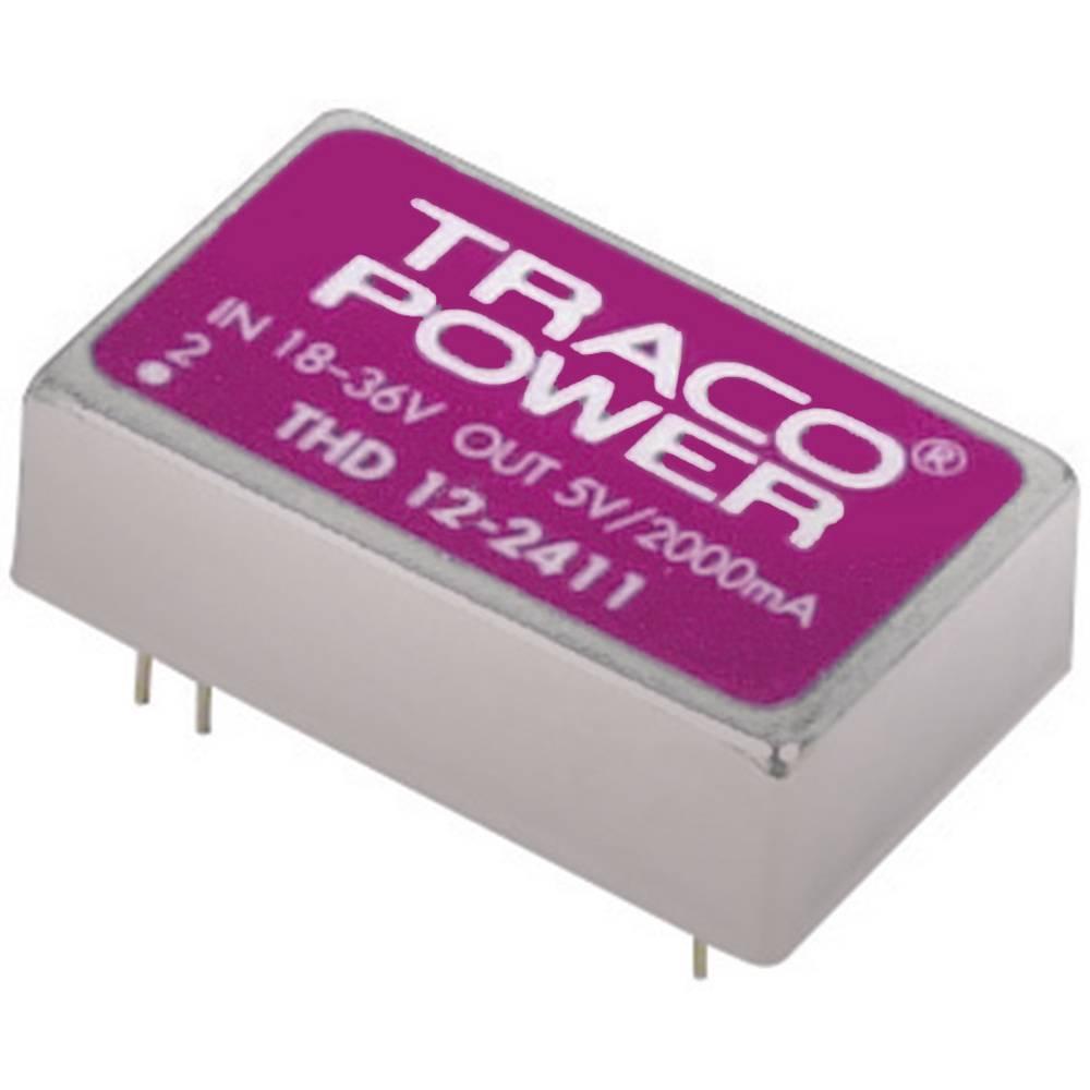 DC/DC pretvornik za tiskano vezje TracoPower THD 12-2422 24 V/DC 12 V/DC, -12 V/DC 500 mA 12 W št. izhodov: 2 x