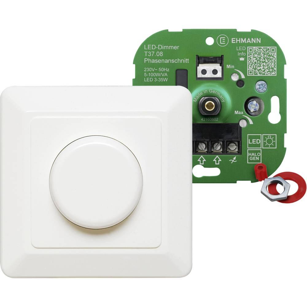 Podometni zatemnilnik, primeren za: LED žarnice, klasične žarnice, halogenske žarnice, bele barve Ehmann 3760c0800