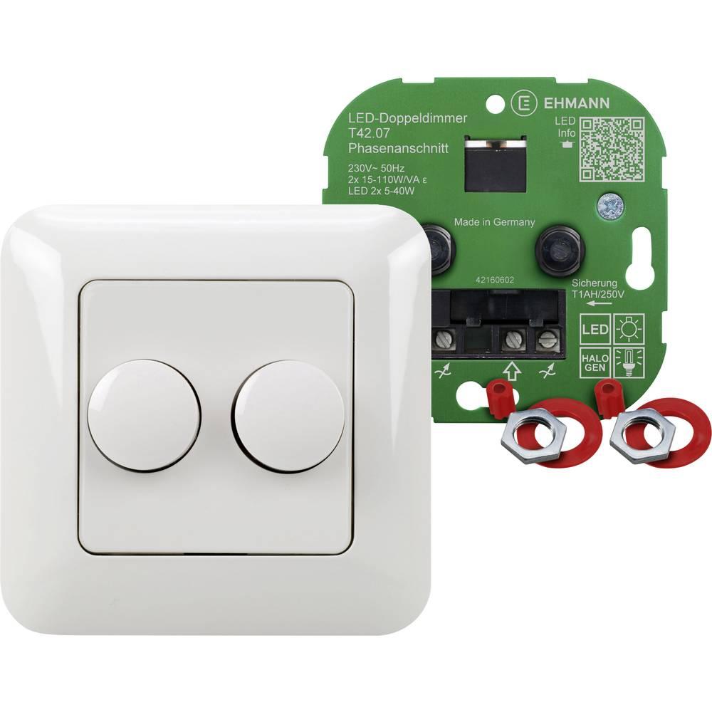 Podometni zatemnilnik, primeren za: LED žarnice, klasične žarnice, halogenske žarnice, bele barve Ehmann 4260c0701