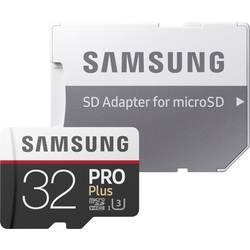 microSDHC-Kort Samsung PRO Plus Class 10, UHS-I, UHS-Class 3 32 GB inkl. SD-adapter