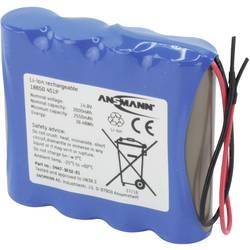 Aku paket 4x18650 Kabel Li-Ion Ansmann 4S1P 14.8 V 2600 mAh