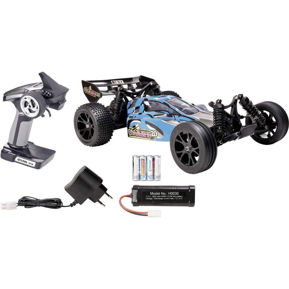 RC modellbil Buggy 1:10 Reely Dart 2.0 Borst motor Elektrisk Bakhjulsdrift 100% RtR