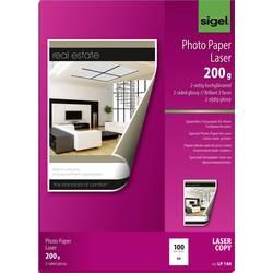 Sigel LP144 Foto papir DIN A4 200 gm² 100 List Obojestransko tiskanje, Visoko sijajni, Optimiziran za laserske tiskalnike