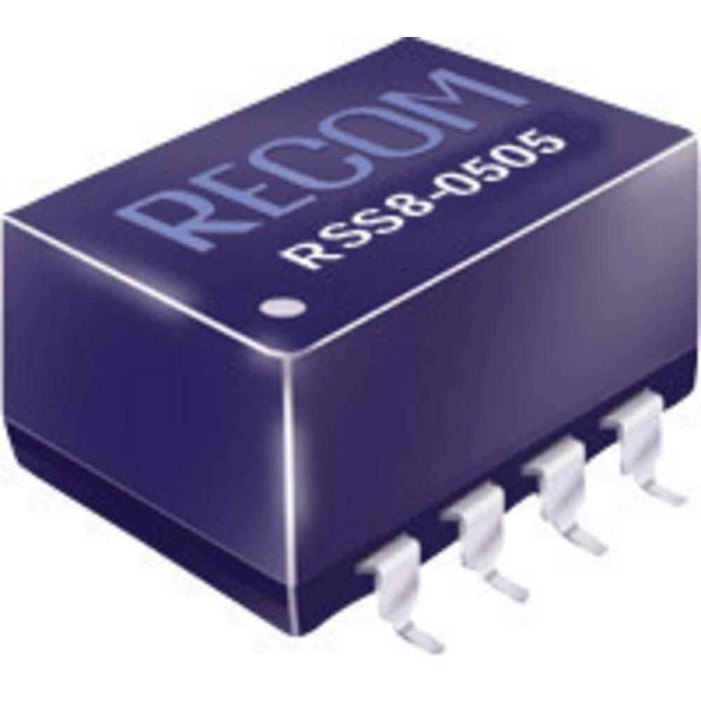 DC/DC pretvornik SMD RECOM RSS8-1205 12 V/DC 5 V/DC 200 mA 1 W št. izhodov: 1 x