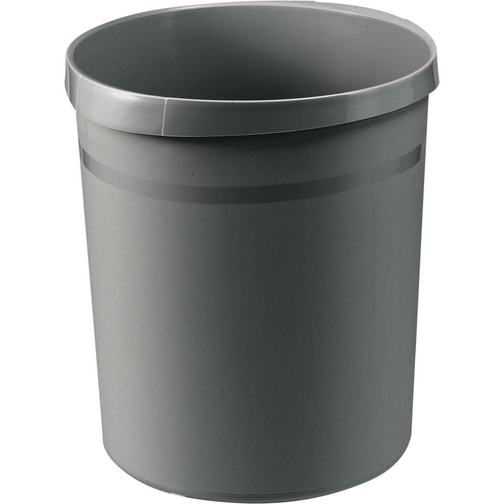 HAN Koš za smeće GRIP 18190-191 18 l (Ø x V) 312 mm x 345 mm Polipropilen Tamnosiva 1 ST