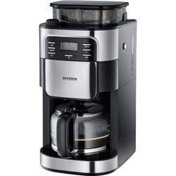 Aparat za kavu KA 4810 Severin zapremina šalica=10 s ugrađenim mlincem, funkcija tajmera, plemeniti čelik (brušeni), crna