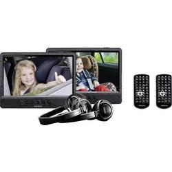 Nakkestøtte DVD-afspiller med 2 skærme Lenco DVP-1045 Skærmstørrelse=25.5 cm (10 )