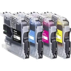 Basetech kompatibilna kartuša za Brother LC-123 kombinirano pakiranje črna, cian, magenta, rumena BTB41 1525,0050-126