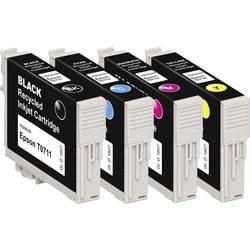Basetech kompatibilna kartuša za Epson T0711, T0712, T0713, T0714 kombinirano pakiranje črna, cian, magenta, rumena BTE107 1607,