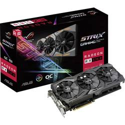 Asus grafična kartica AMD Radeon RX 580 Strix Overclocked 8 GB gddr5-ram pcie x16 hdmi, dvi, display port