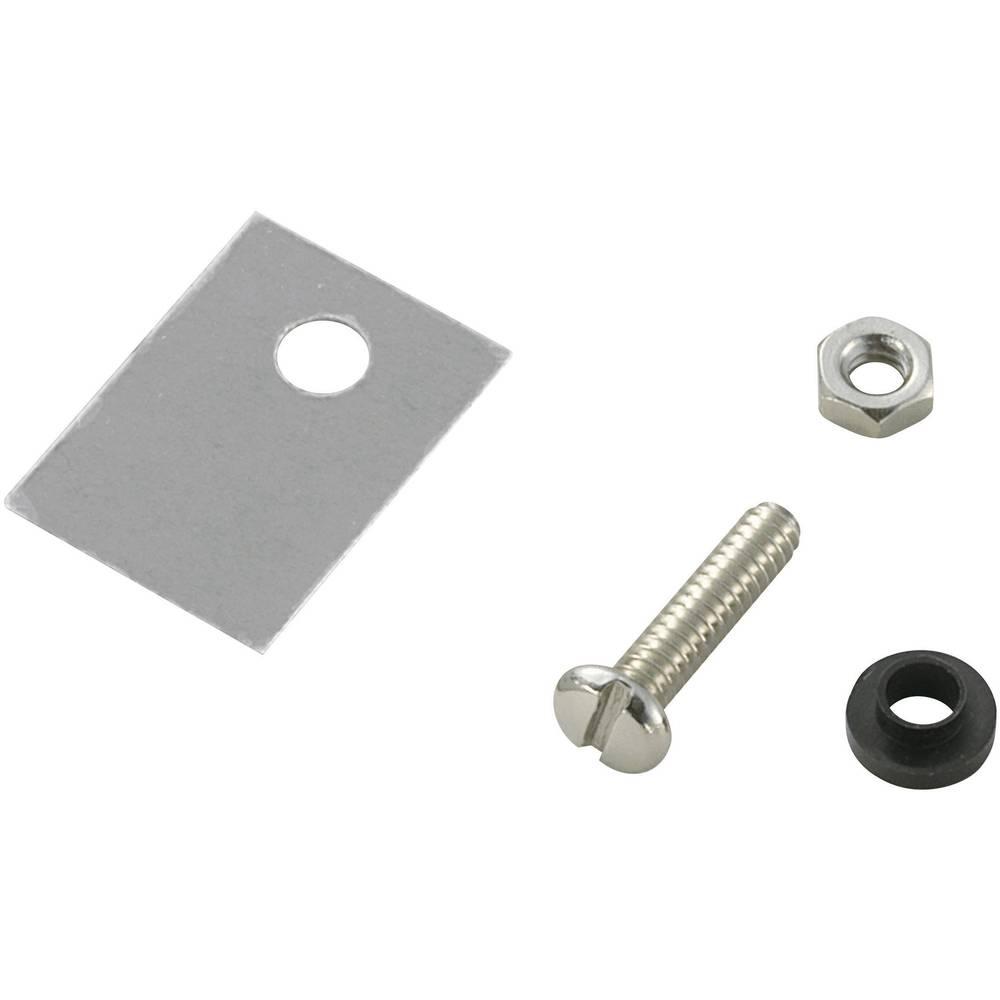 Set montažnega materiala za polprevodnike (D x Š) 18 mm x 13 mm primeren za TO-220 SCI A18-9B 1 set