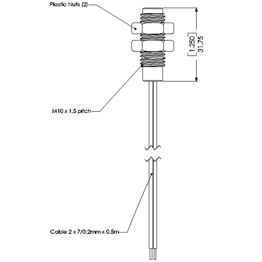 Reed-kontakt 1 x sluttekontakt 100 V/DC, 250 V/AC 1 A 10 W TE Connectivity Sensor PS831