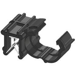 WKK ART005917 Robna sponka Natična Premer paketa (trdni)=10 mm Toplotno stabiliziran, Vezava kablov bočno na montažo Črna 1 KOS