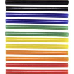 TOOLCRAFT palčke za vroče lepljenje 7 x 100 mm barvne: modre, rdeče, zelene, rumene barve 12 kosov
