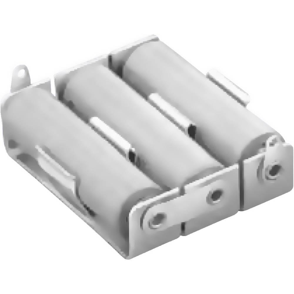 baterije - držač 3x mignon (AA) lemni priključak (D x Š x V) 54 x 44 x 15 mm Keystone 147