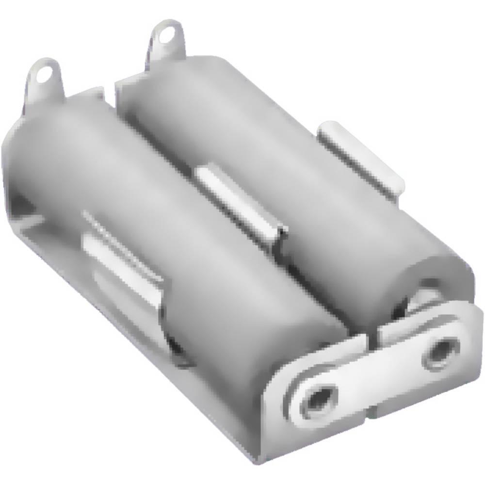 Baterije - držač 2x Mignon (AA) Lemni priključak (D x Š x V) 55 x 29 x 15 mm Keystone 146