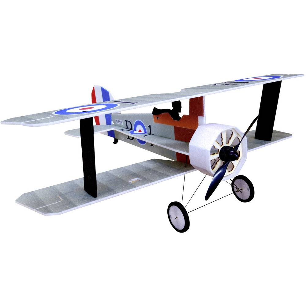 RC Factory Crack Camel Srebrna RC Model motornega letala ARF 875 mm