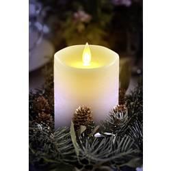LED sveča iz pravega voska, bele barve, topla bela (premer x V) 8 cm x 12 cm Polarlite
