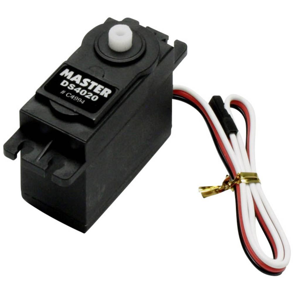 Master standardni servo DS4020 digitalni servo Pogonski material: umetna masa Vtični sistem: uni (graupner/jr/futaba)