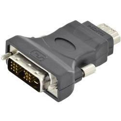 DVI / HDMI Adapter [1x Moški konektor DVI-D - 1x Ženski konektor HDMI] Črna Enojna zaščita, Zaščiten, HDMI pripravljen Digitus