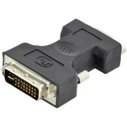 DVI / VGA Adapter [1x Muški konektor DVI, 24 + 5 polova - 1x 15-polni ženski konektor D-SUB] Crna Jednostruko oklopljeni kabel,