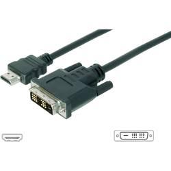 Digitus HDMI / DVI Priključni kabel [1x Moški konektor HDMI - 1x Moški konektor DVI, 18 + 1 polov] 3 m Črna