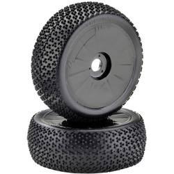 Absima 1:8 buggy kompletna kolesa y pin disk črna 1 Par