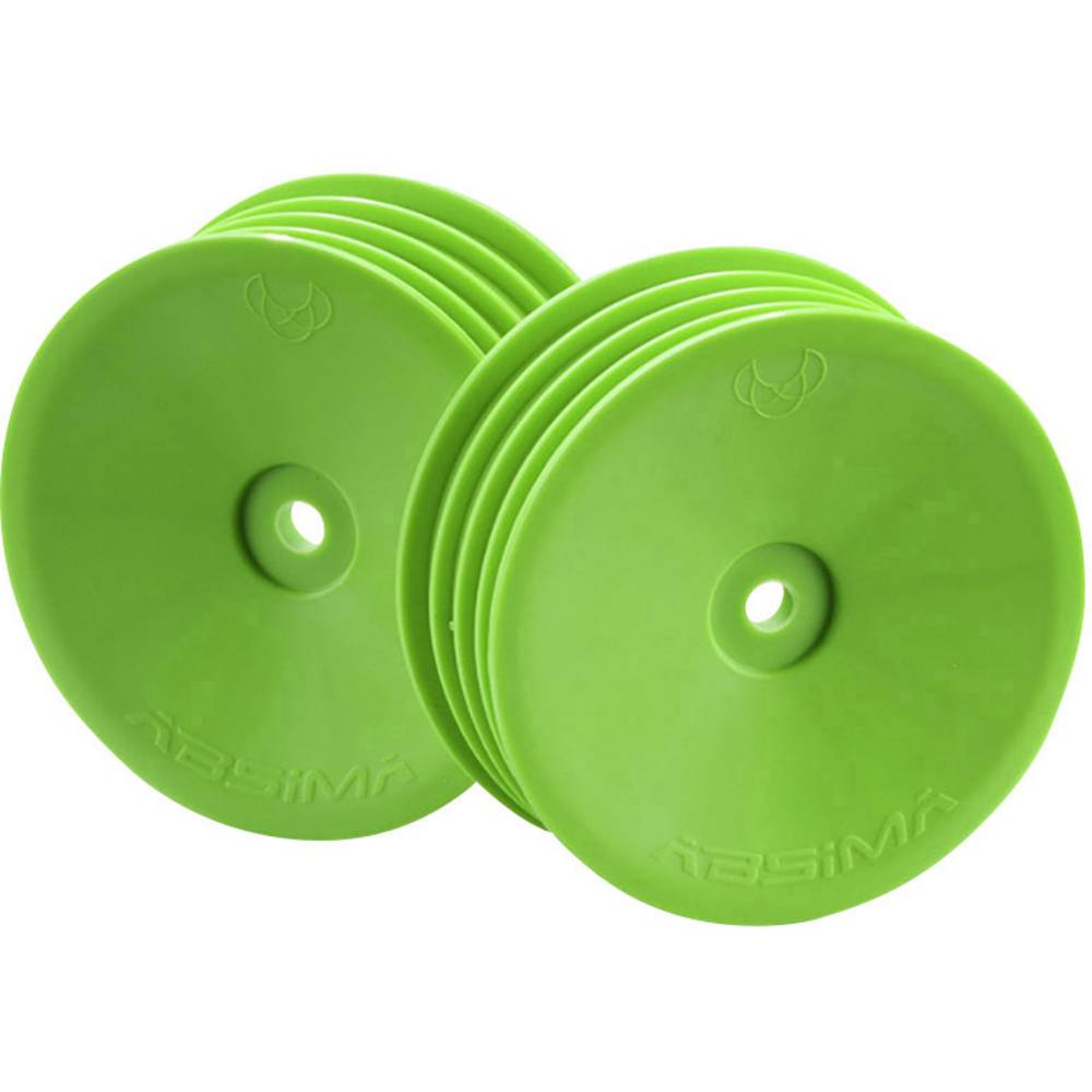 Absima 1:10 buggy platišča disk zelena 1 kos