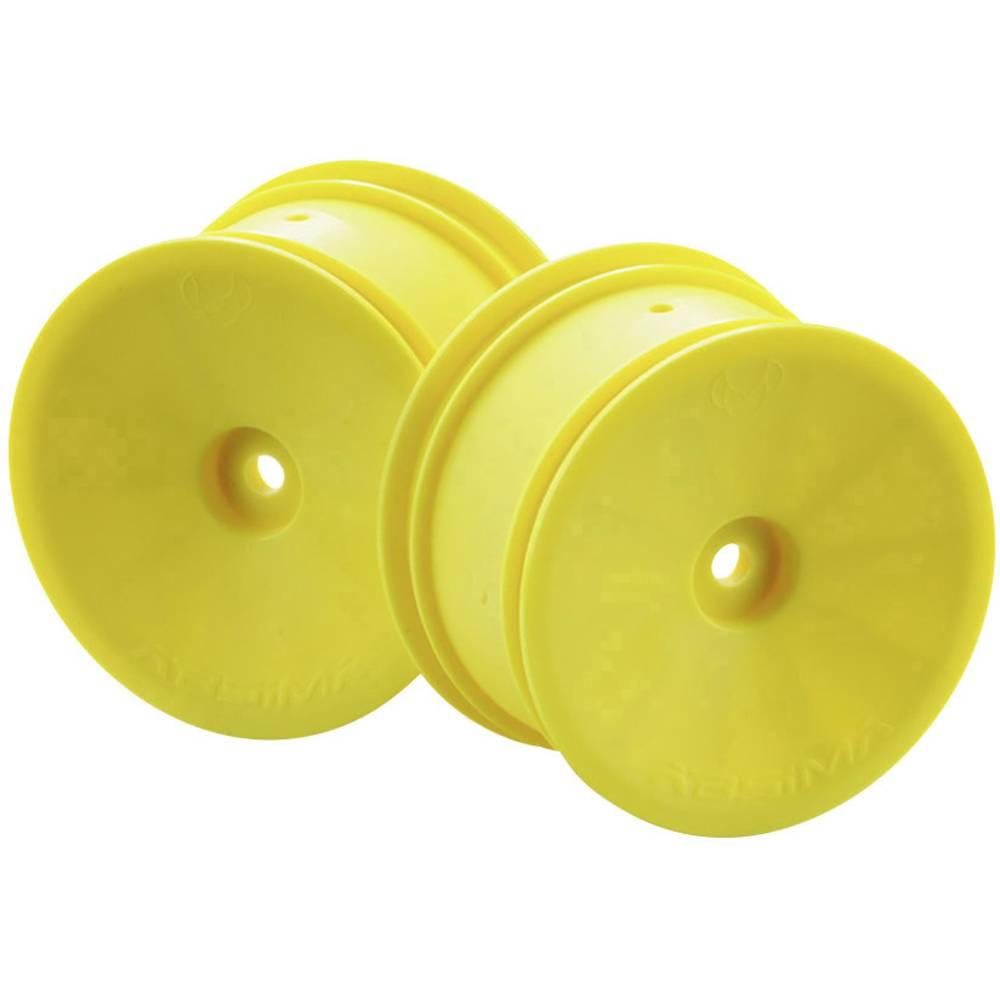Absima 1:10 buggy platišča disk rumena 1 Par