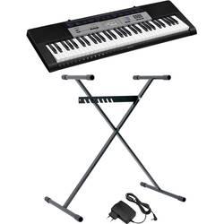 Casio CTK-1550SET tastatura črna, siva s vključenim napajalnikom, s vključenim stojalom