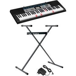 Casio LK-136SET tastatura črna s vključenim napajalnikom, s vključenim stojalom, osvetljene tipke
