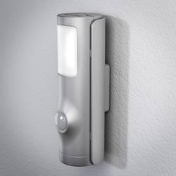 LED-nattlampa med rörelsedetektor LED OSRAM NIGHTLUX Torch Cylindrisk Neutralvit Silver