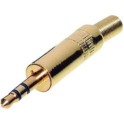 Klinken vtični konektor 3.5 mm raven vtič št. polov: 3 stereo, zlate barve TRU Components 1 kos