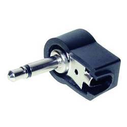 Klinken vtični konektor 3.5 mm kotni vtič št. polov: 2 mono, črne barve TRU Components 1 kos