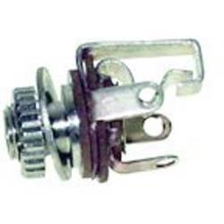 Klinken vtični konektor 3.5 mm vgradna vtičnica št. polov: 3 stereo, srebrne barve TRU Components 1 kos