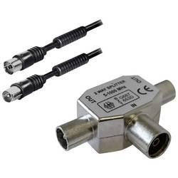 Antenski, SAT priključni kabel [1x antenski vtič 75 - 1x antenska vtičnica 75 ] 2 m črne barve BKL Electronic