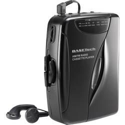 Bärbar kassettbandspelare Basetech KW-118C Svart