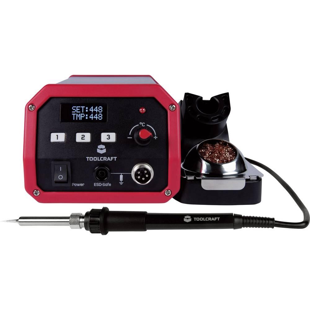 Spajkalna postaja digitalna 100 W TOOLCRAFT ST-100D +150 do +450 °C, spajkalna konica vključena