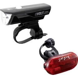 komplet svjetla za bicikl Cateye GVOLT25/OMNI3G led pogon na punjivu bateriju , baterijski pogon crna