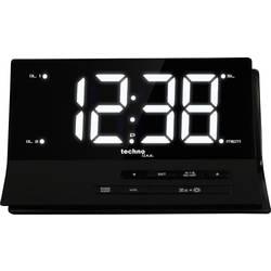 Techno Line WT 482 radijski kontrolirana budilica, crne boje, broj alarmnih vremena 2