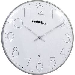 Radijsko vodena stenska ura Techno Line WT 8235 krom-optik 350 mm x 25 mm krom