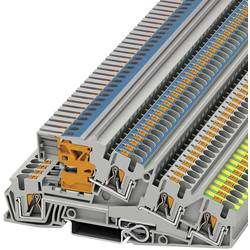 Trokatna stezaljka za zaštitni vodič PTI 4-PE/L/NT 3214047 Phoenix Contact broj polova: 5 0.2 mm 6 mm siva 50 kom.