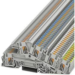 Trokatna stezaljka za zaštitni vodič PTI 4-PE/L/N 3214049 Phoenix Contact broj polova: 5 0.2 mm 6 mm siva 50 kom.