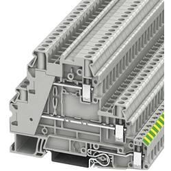 Trokatna stezaljka za zaštitni vodič UT 4-PE/L/L 3214360 Phoenix Contact broj polova: 5 0.14 mm 6 mm siva 50 kom.