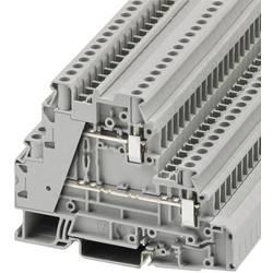 Trokatna prolazna stezaljka UT 4-L/L 3214362 Phoenix Contact broj polova: 4 0.14 mm 6 mm siva 50 kom.