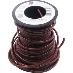 Finožični vodnik LiY 1 x 1.50 mm² rjave barve TRU Components 605956 10 m