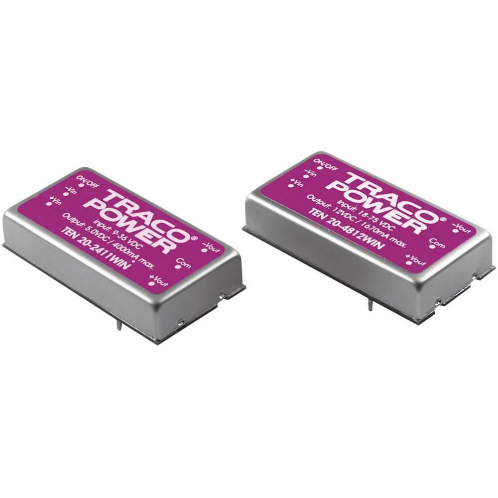 DC/DC pretvornik za tiskano vezje TracoPower TEN 20-4822WIN 48 V/DC 12 V/DC, -12 V/DC 835 mA 20 W št. izhodov: 2 x