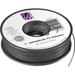 Preklopna žica Yv 1 x 0.20 mm² črne barve TRU COMPONENTS 1565380 50 m